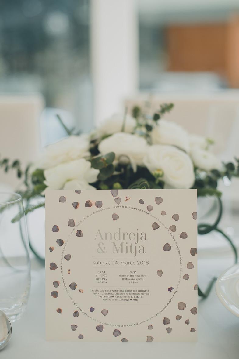 Photograph of a wedding invitation.