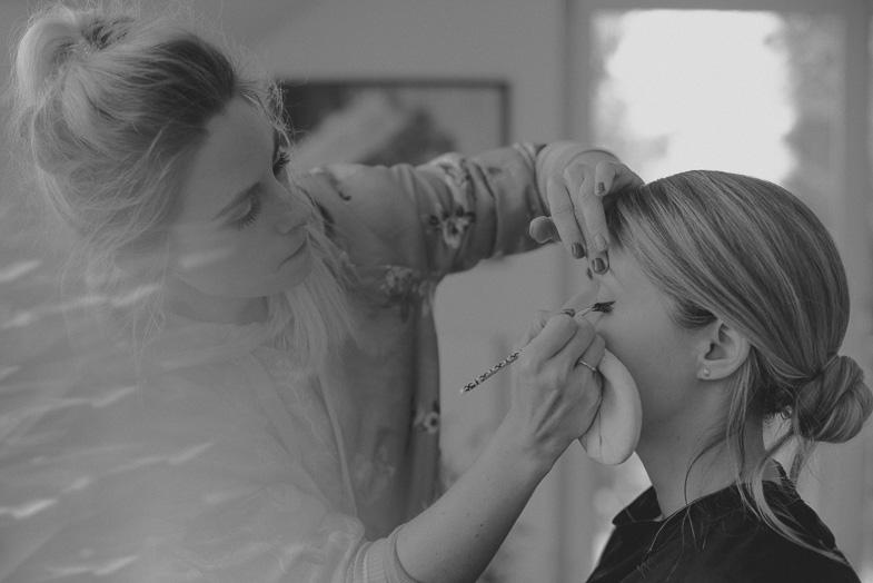 Bride and her makeup artist.