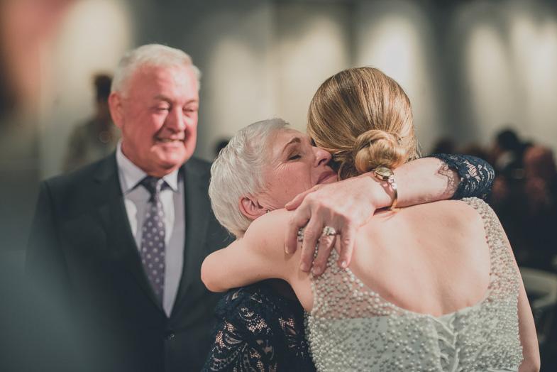 The bride while receiving congratulations.