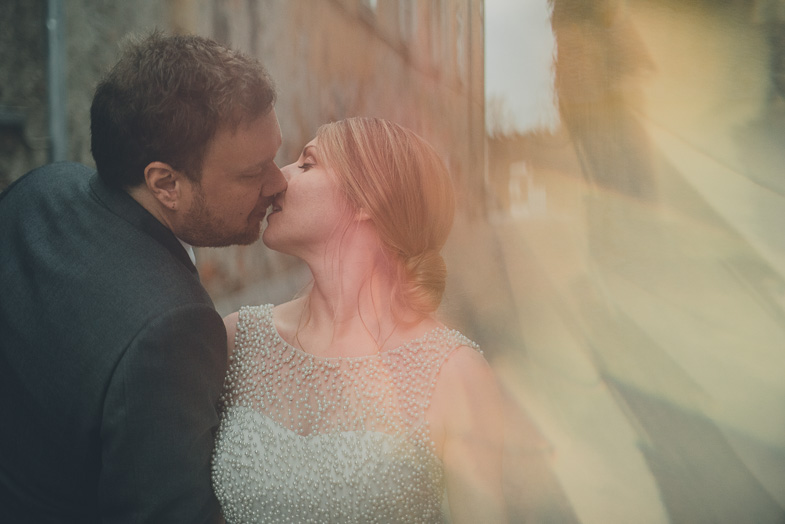 Photo of the wedding couple who hired photographer from Slovenia.