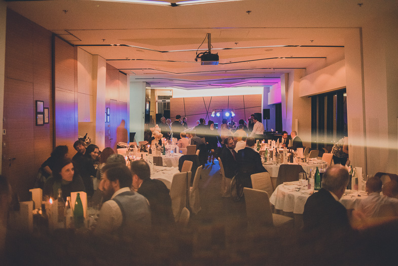 Photo of the location of the wedding dinner at the Radisson Blu Plaza Hotel.