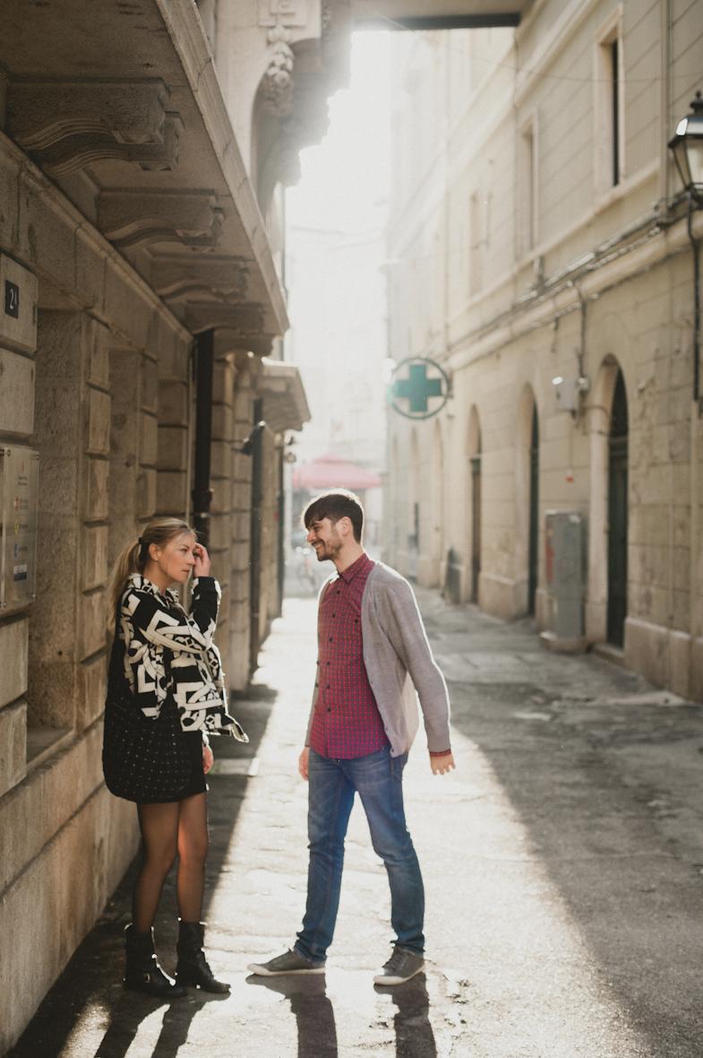Foto della coppia a Trieste, Italia.