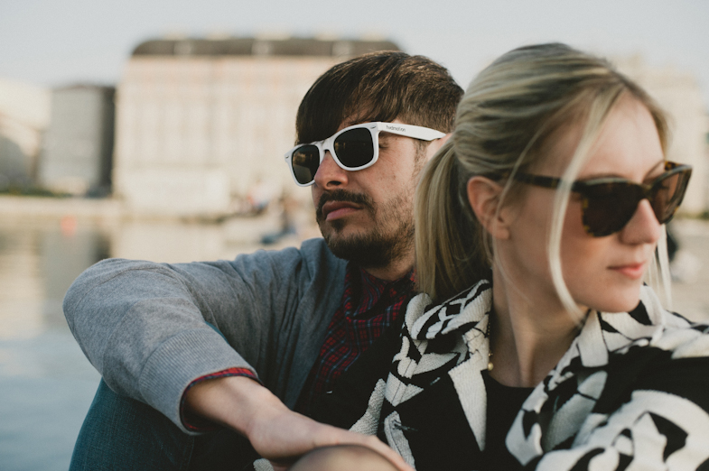 Couple with sunglasses.