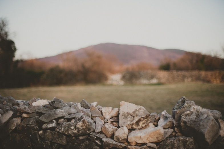 Photo of the stone karst border.