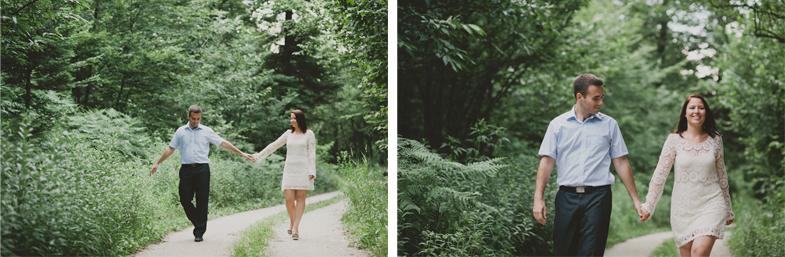 Romantičen sprehod po gozdni poti.