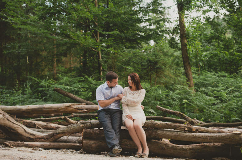 Love in the middle of the forest.