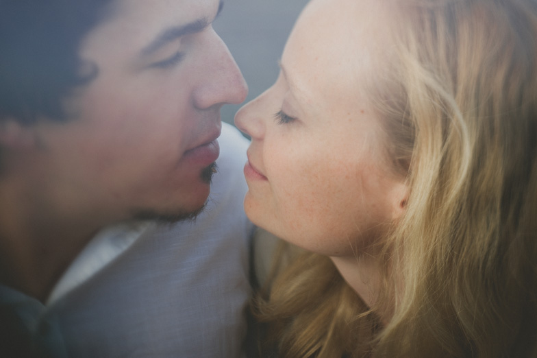 Couple is showing tenderness to each other.