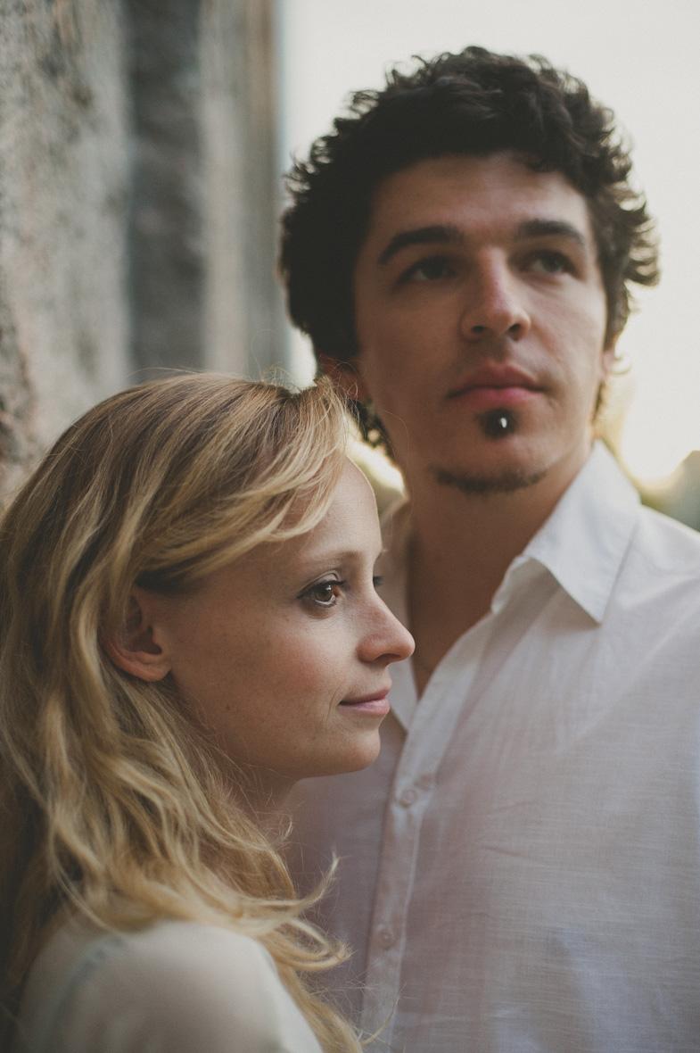 Portrait of future newlyweds.