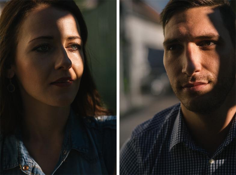 Unikatni portret ženske in moškega.