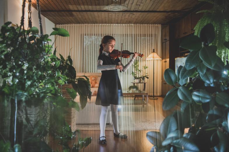 Violinist, Terezija, 9 years